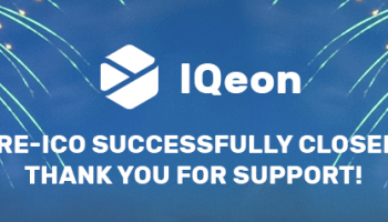 IQeon Pre-ICO is Closed Ahead of Time