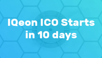 IQeon ICO Starts in 10 Days!