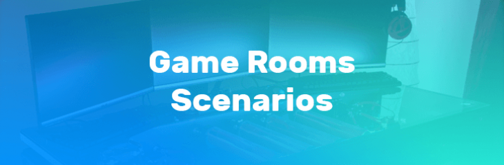 Public and Private Game Rooms Based on IQeon Platform