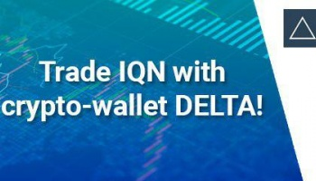 Trade IQN with crypto-wallet DELTA!