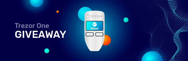 IQeon community event – Trezor One giveaway!